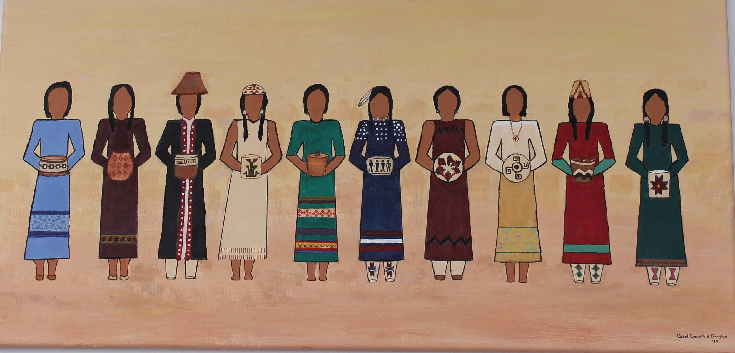 """Gathering of Nations  24"""" L x 12"""" H 2018"""