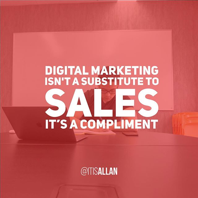 I can't even begin to count the number of times I have come across someone who believes that #DigitalMarketing can replace #Sales.  Especially when you're starting out, nothing is going to work better for you than picking up the phone and calling someone, reaching out to existing connections, or going to local networking events. (Pssst, our next #TechandTacosYYC is a speed networking event. LINK in BIO!) The punchline is that if you believe #socialmediamarketing or #internetmarketing is a way around not having to prospect for new clients... Think again. That sort of mentality is the quickest way to not reaching your financial goals and aspirations as an #entrepreneur.  Do you agree? Let me know 👇 . . . . #yyc #qotd #businesstip #marketingtip #growthmindset #yycentrepreneur