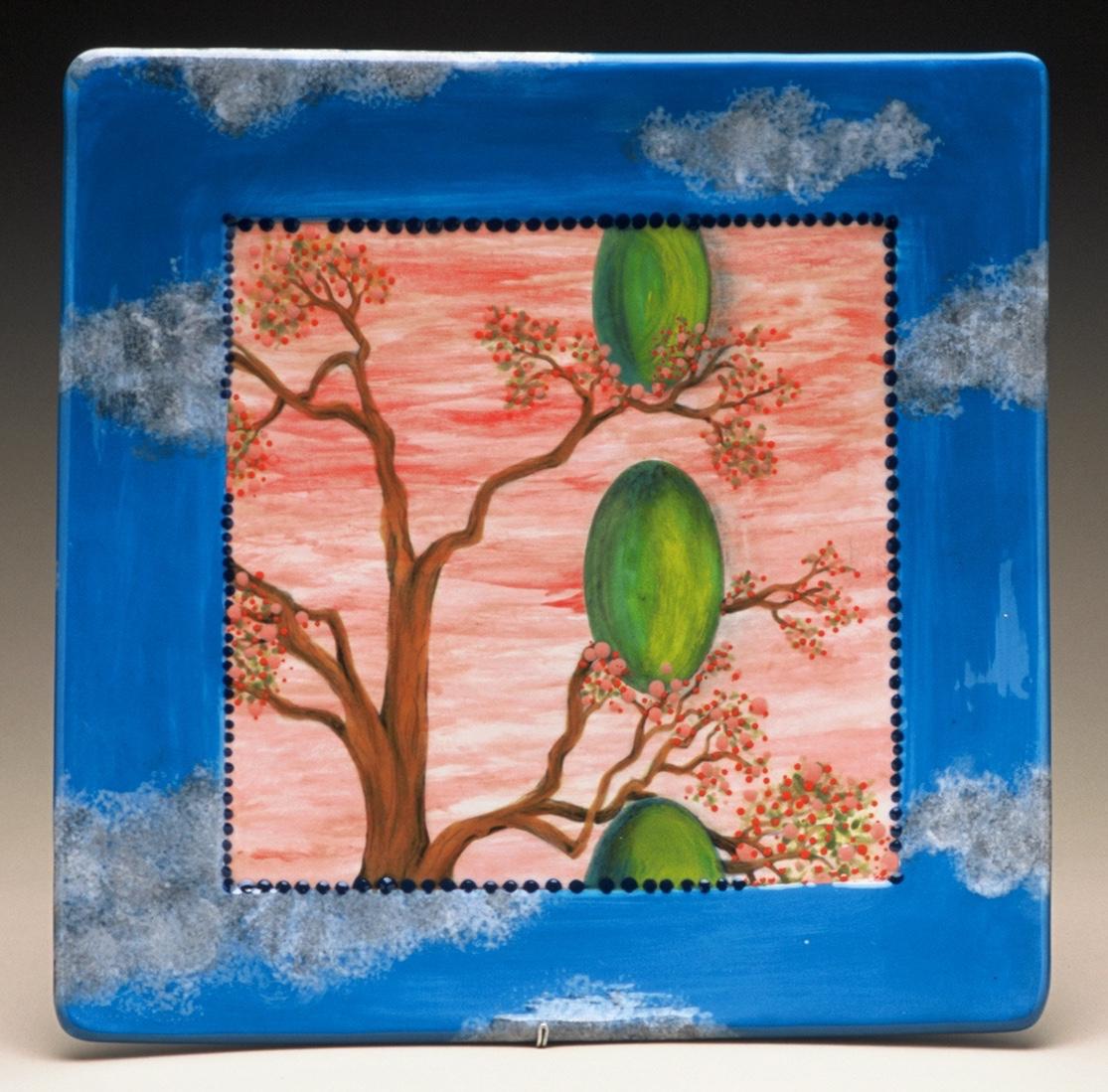 """Three Egg Tree Tray, 13"""""""