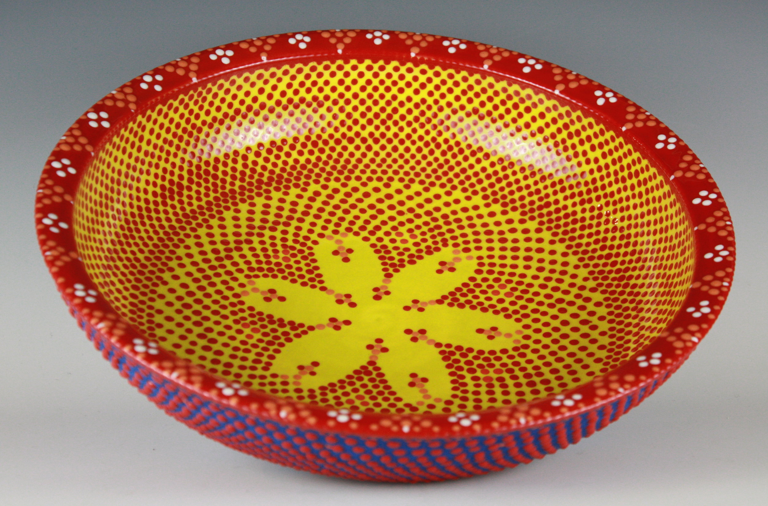 Yellow and Blue Bowl, 12""