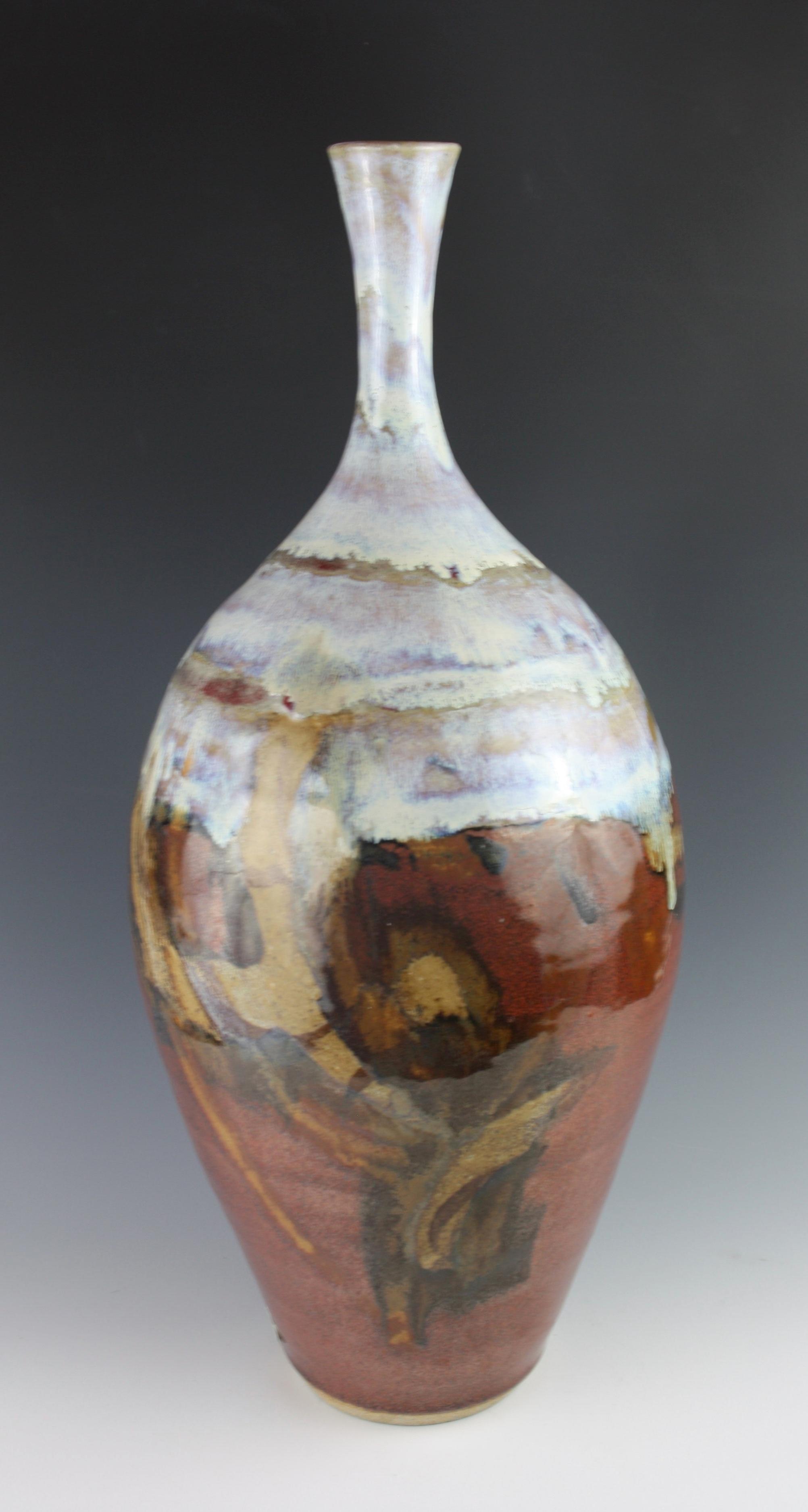 "Stoneware Vase 18""H, $175"