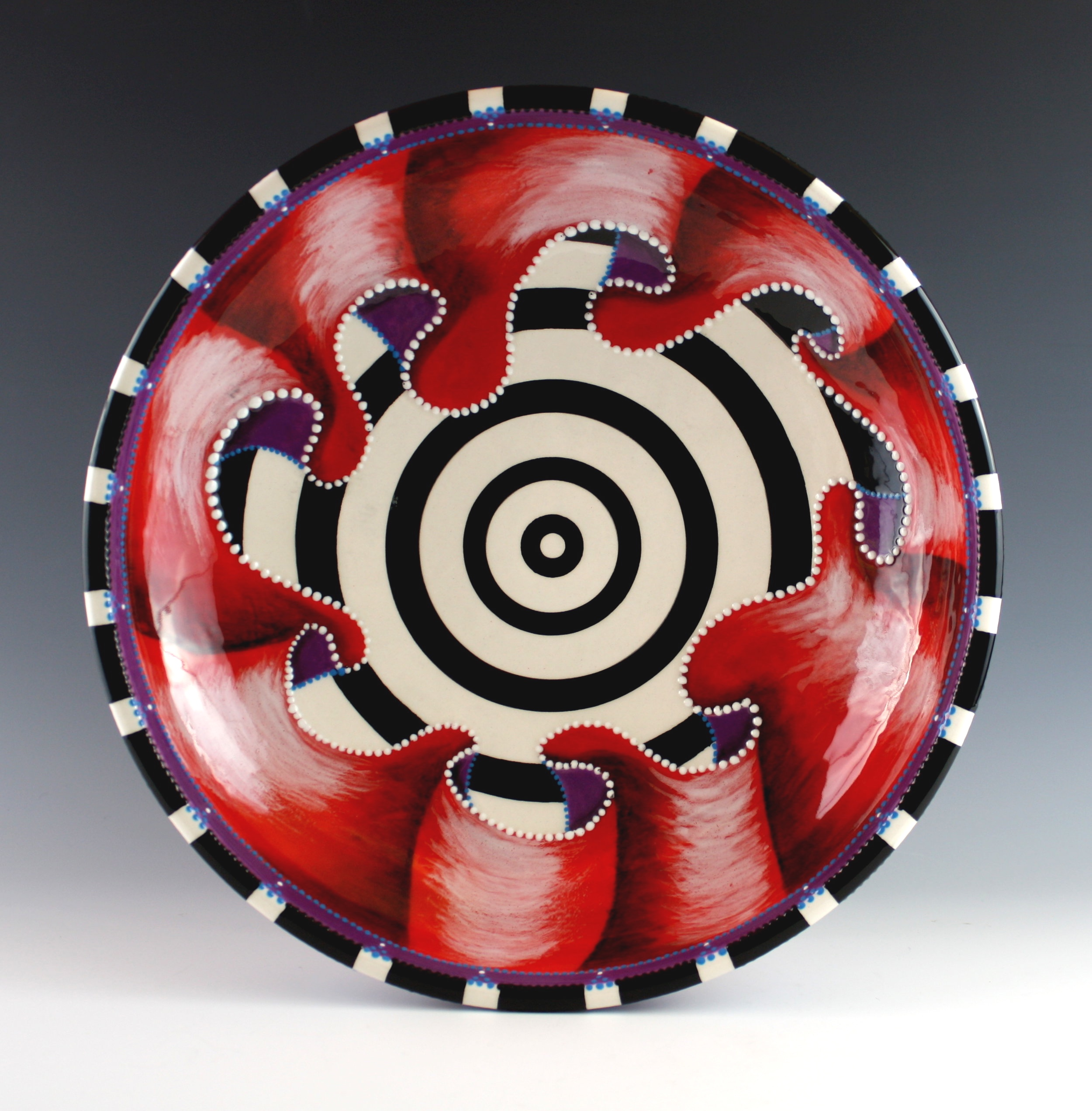 """Red Ruffle Plate  , 20"""""""
