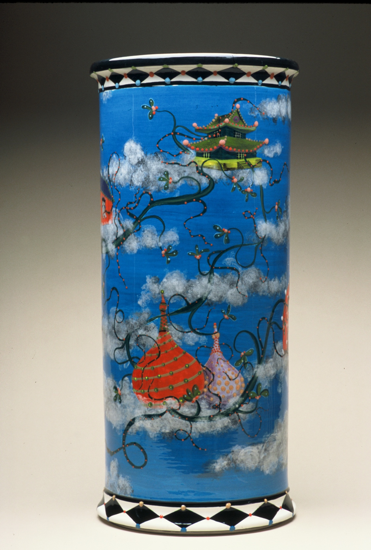 "Home in the Clouds Umbrella stand, 23"" H"