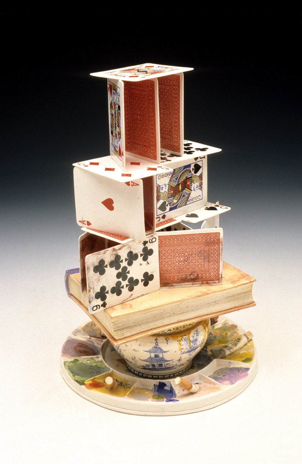 "Cards on Pallet,     23"",   Porcelain"