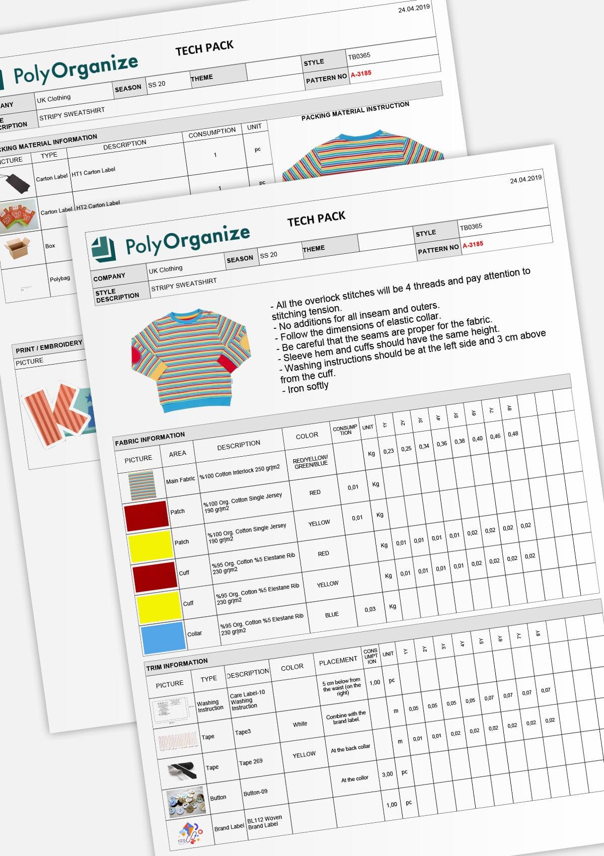 Detaylı Teknik Föy Hazırlama - PolyOrganize, tasarlanan modelin teknik özelliklerinin her yönüyle ilgilenir. - her seviyede - Yani teknik özellikleriniz %100 üretime hazır halde bulunur. Zorlu bir senaryonuz var mı? Bizim çözümümüzü görmek ister misiniz?