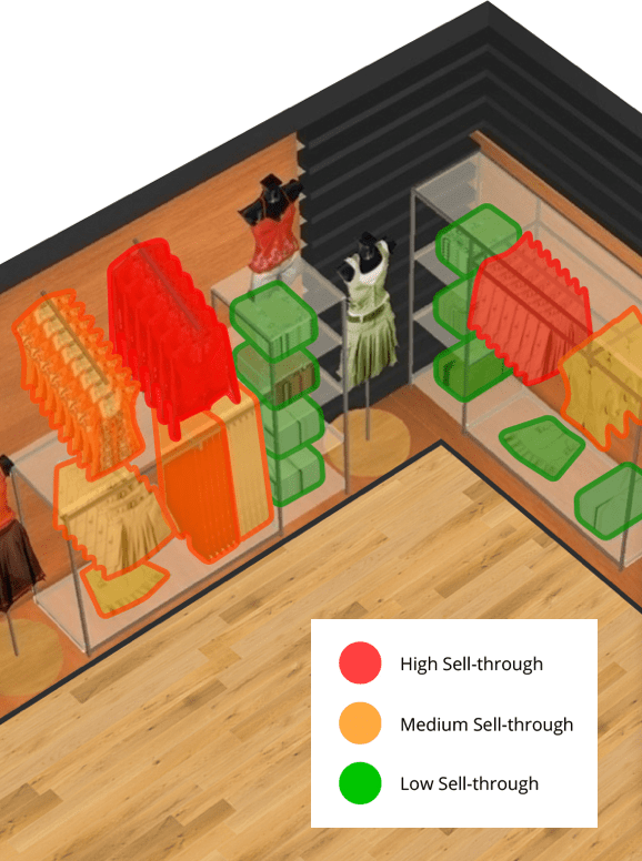 Evaluate Your Store Plans with the Power of Data - Get a top-down view of how your store is laid out and performing. Use real time heat mapping to quickly highlight data, such as cost, quantity sold and more.