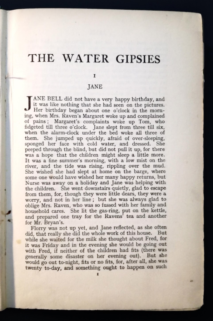 Figure 4. The Water Gypsies – Chapter 1 (1930)