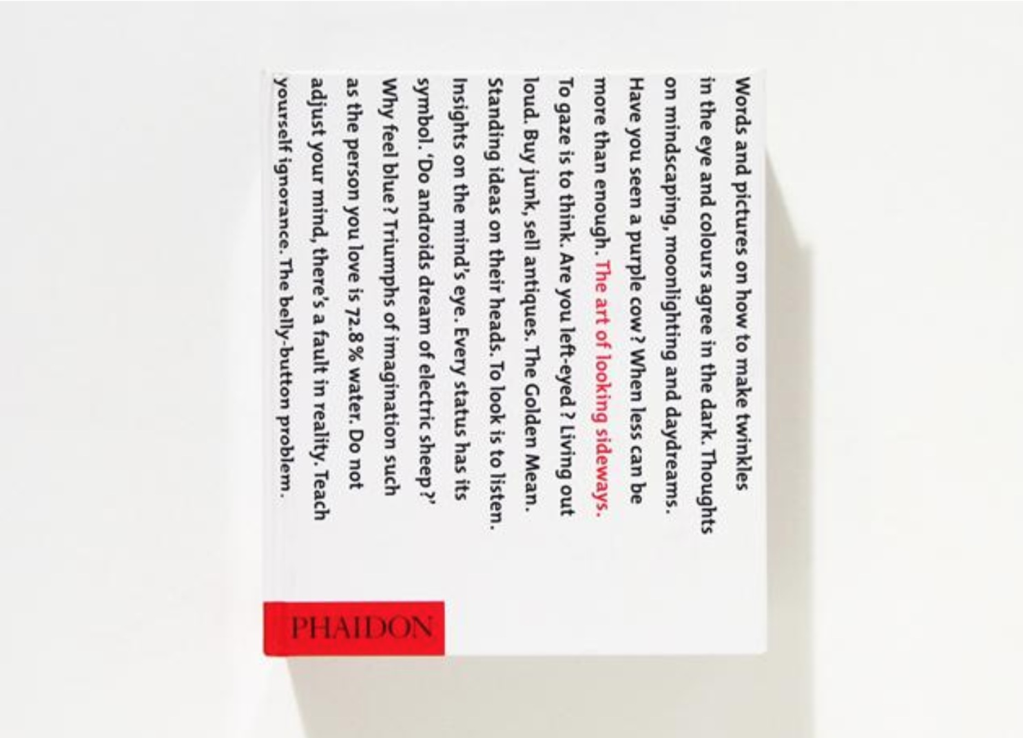 Figure 15. The Art of Looking Sideways, Front Cover Phaidon Press