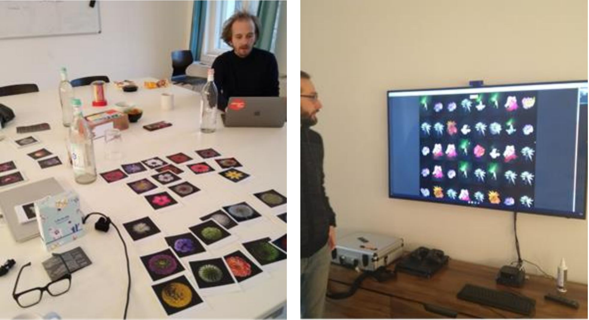 Meeting in Berlin between Flamboyant and Florian Dohmann and Sebastian Zimmermann from Birds on Mars.