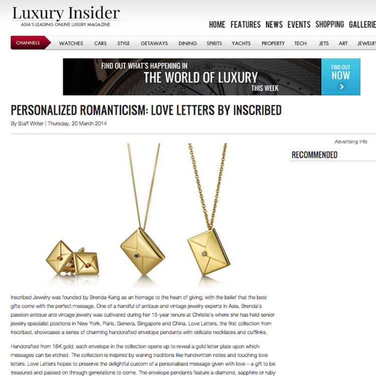 Luxury Insider, March 2014