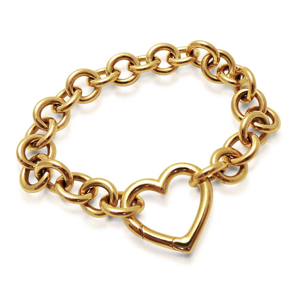For the girly girl, wrap your heart around her wrist. An 18k gold bracelet, signed Tiffany & Co.