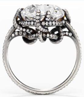 JAR Thread Ring, set with a 10.12-carat Old Mine Cut diamond, formerly owned by Ellen Barkin.