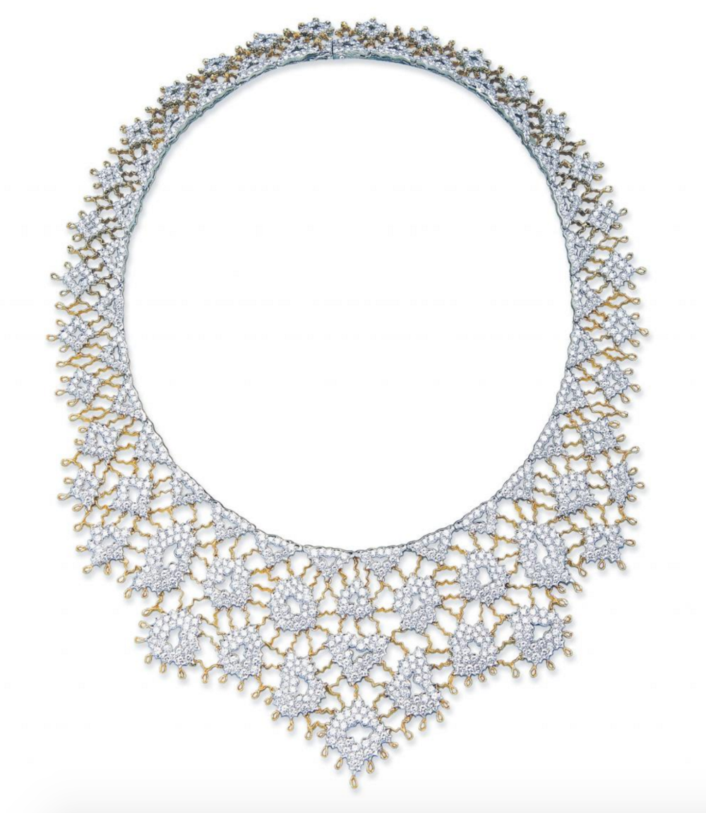 A Venetian lace necklace from the Buccellati family archives.