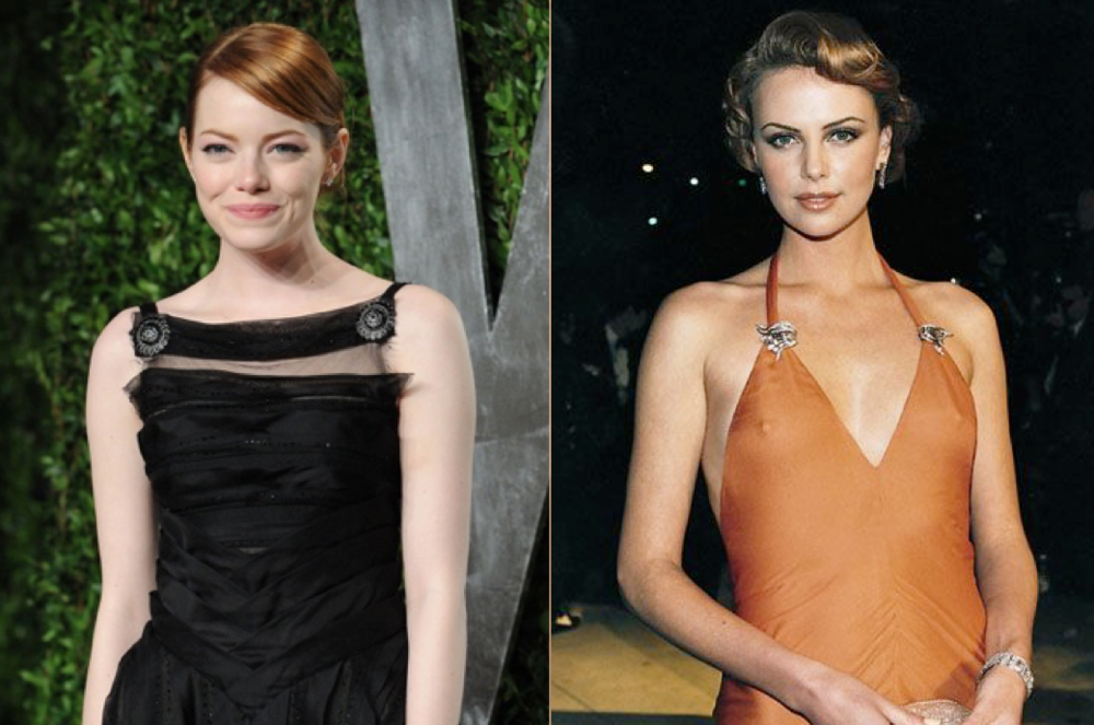 Emma Stone (left) and Charlize Theron (right)