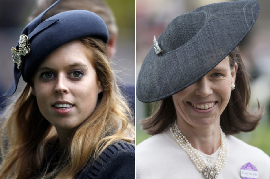 Princess Beatrice of York (left) and Lady Sarah Chatto (right)