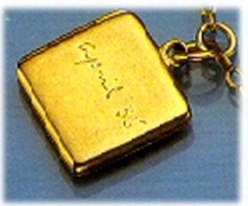 "The locket that Edward, the Duke of Winsor, gave to Wallis Simpson in April 1935. Inscribed on it was ""Wallis-David""; the duke was known to his family as David."