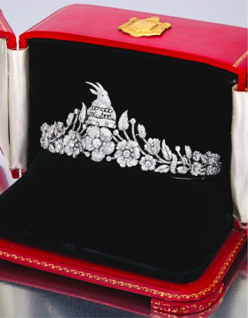 A Platinum and Diamond Tiara, designed by Marianne Ostier for Oesterreicher, Wien
