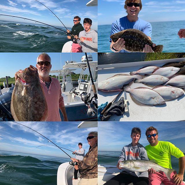 Great day on the shoals!! #stripedbass #fluke #bottombouncing  #billfishertackle #billfisheroutfitters #nantucket #fluke