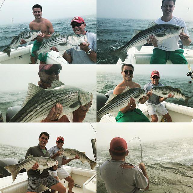 Big bass, Big Water, job well done by Nick Sr. And crew! #billfisheroutfitters #billfishertackle #fisherrealestate #stripedbass #stripedbassfishing #nantucketisland #nantucket