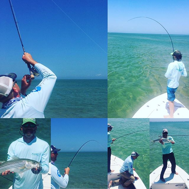 Great day on the flats! #billfisheroutfitters #billfishertackle #sightcasting #stripedbass #vineyardvines #hewesboats #madaket