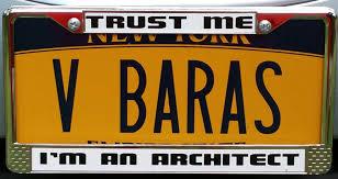 Trust me Im an Architect license plate Munoz Baras VBA.jpg