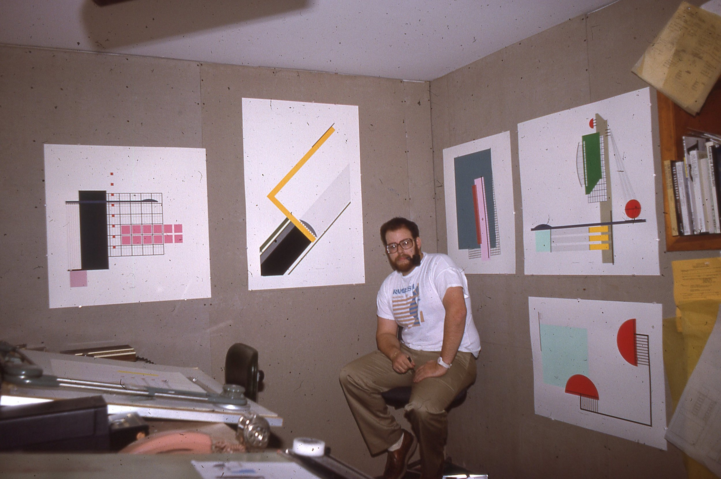 Exploration Studio - Circa 1985 - Hector's first art studio where his journey continued as he explored the creative similarities between art and architecture.