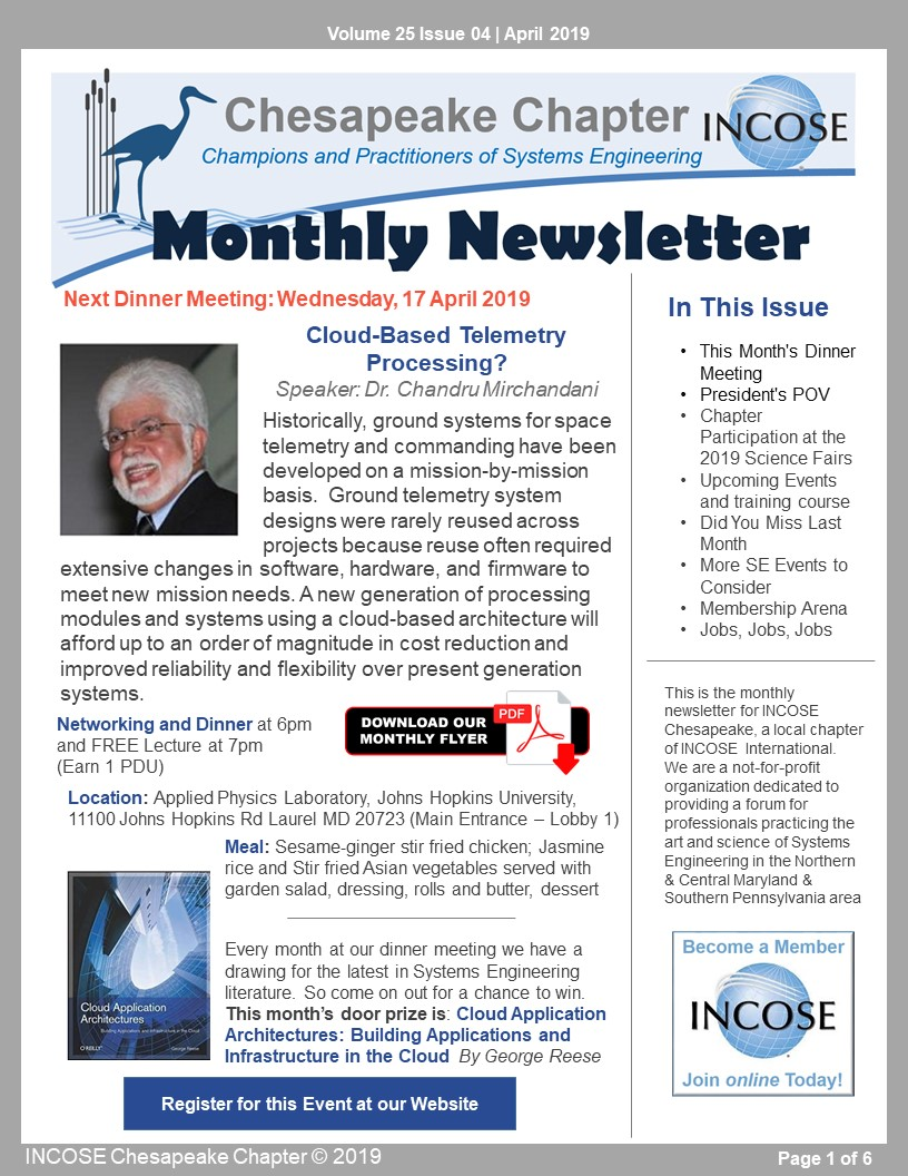 Click to Download the latest Newsletter (PDF)