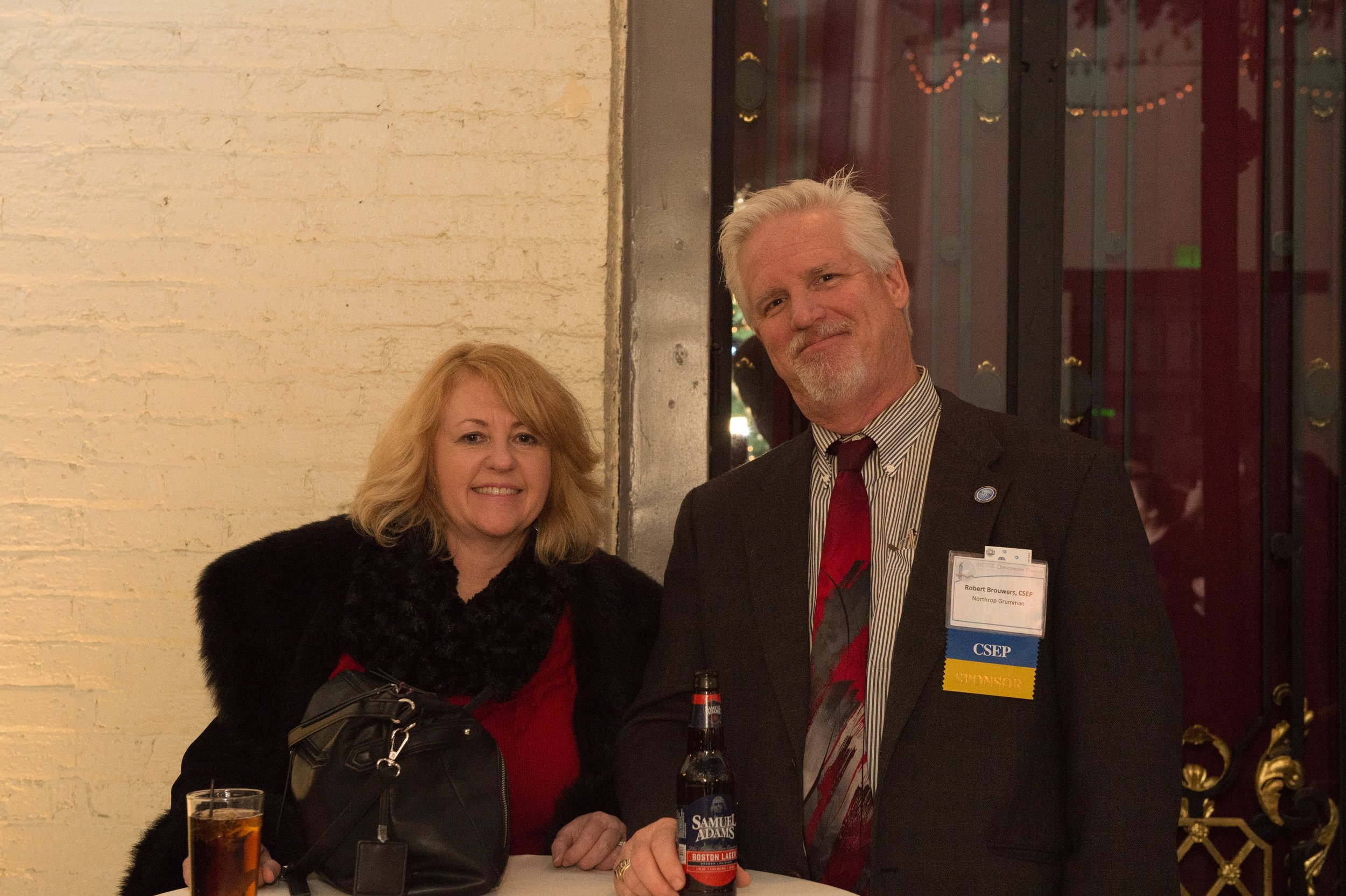 Bob and Candice Brouwers enjoying the holiday festivities at the Engineers Club in Baltimore
