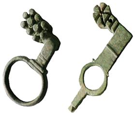 Roman Keys to Doors or Lockers