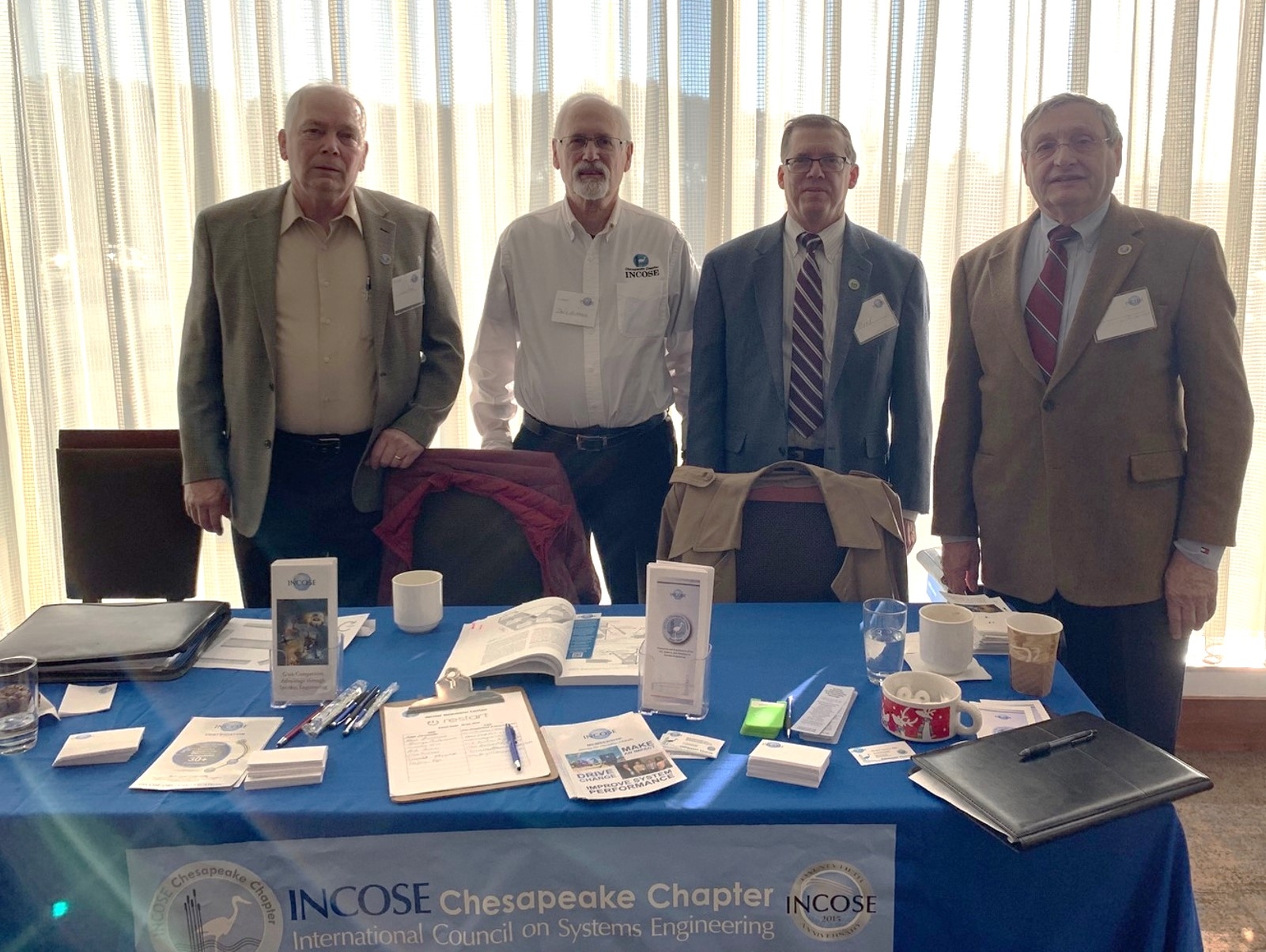 Participants of the January 28, 2019 reStart job fair event: L-R Butch Rappe, CSEP; Dave Alldredge, ESEP, Student Division Liaison; Mark Kaczmarek, ASEP, Membership Director; George Anderson, ESEP, Past President.