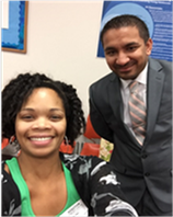 Mrs. Asia Morgan, CSEP, and Mr. Vadalia, Science Department Chair, Chesapeake Science Point