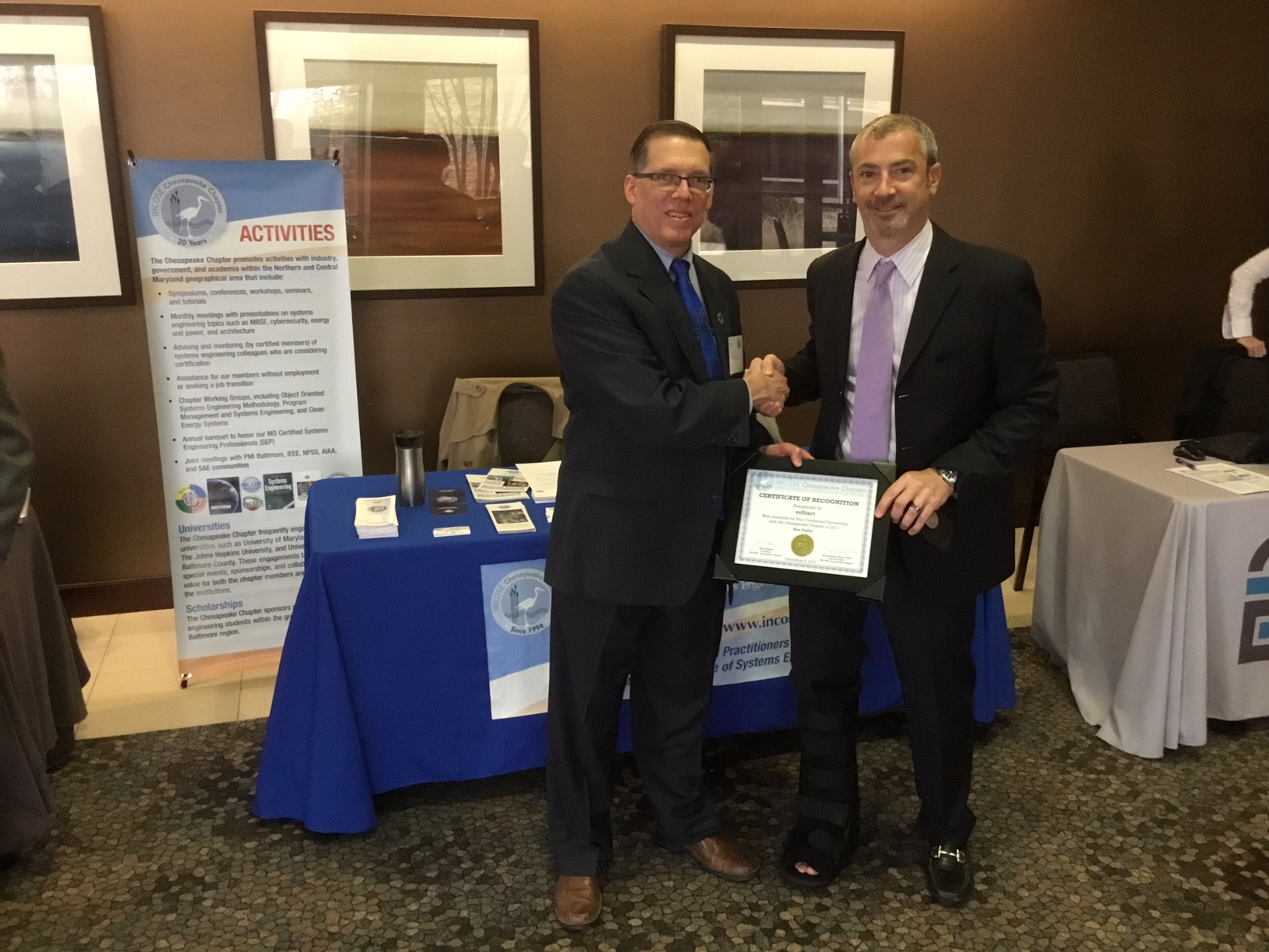 Ken Fuller with Mark Kaczmarek at the January 29, 2018 reStart job fair