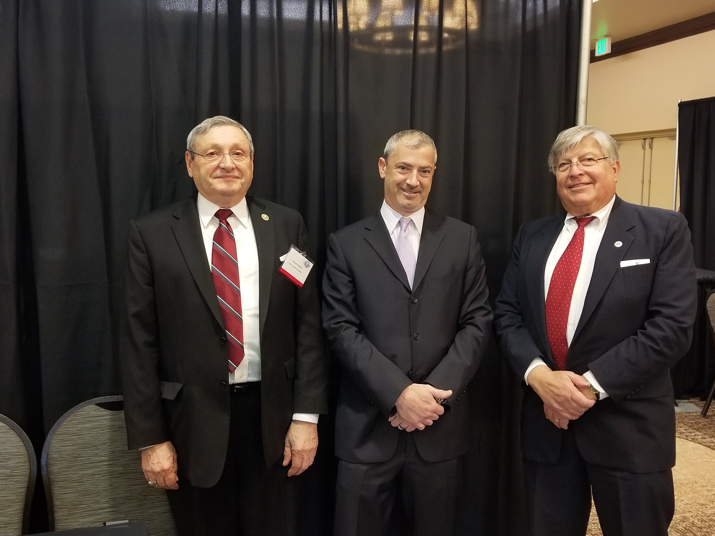George Anderson, Ken Fuller and Charles at the March 26, 2018 reStart job fair
