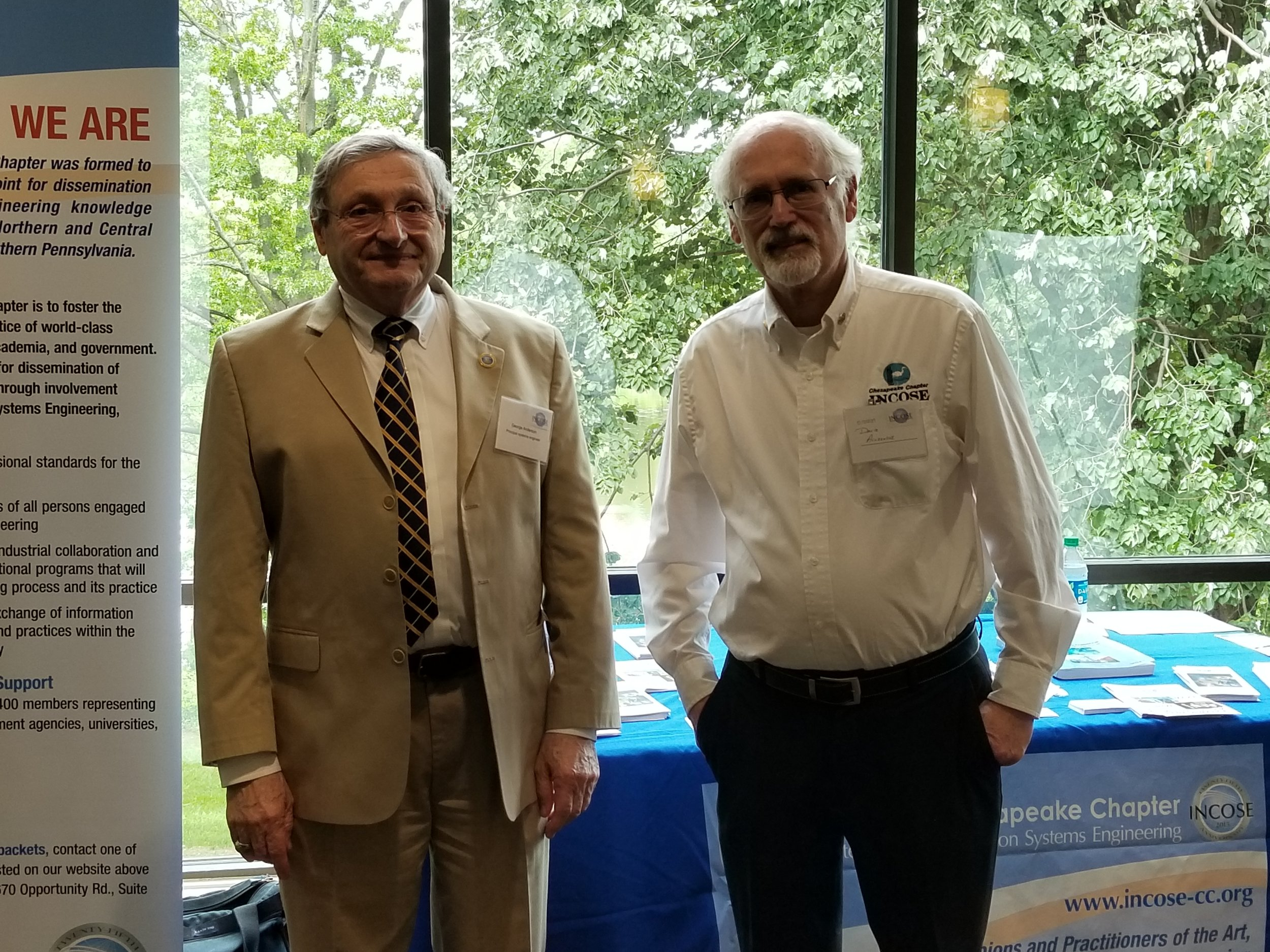 George Anderson and Dave Alldredge at the May 23, 2018 reStart job fair