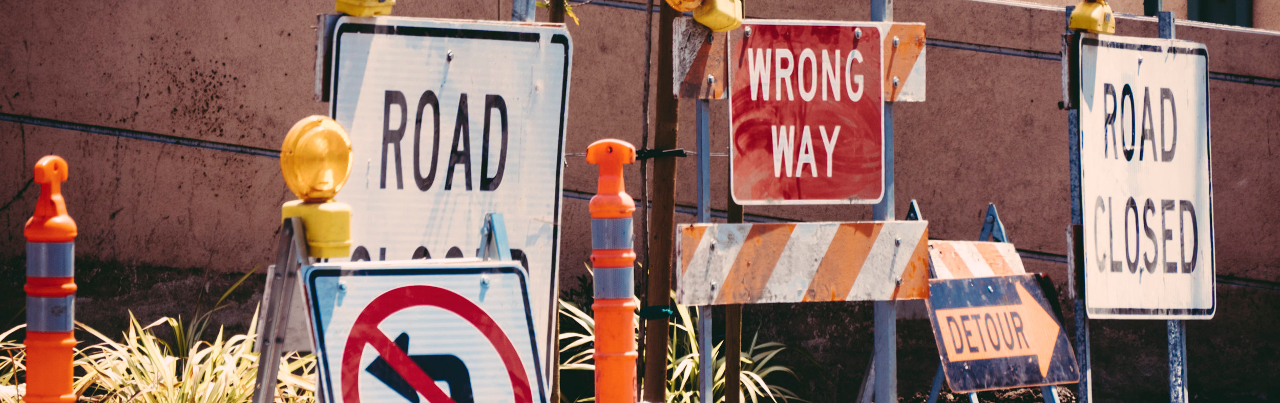 wrong way road sign - logo mistake and how to avoid them