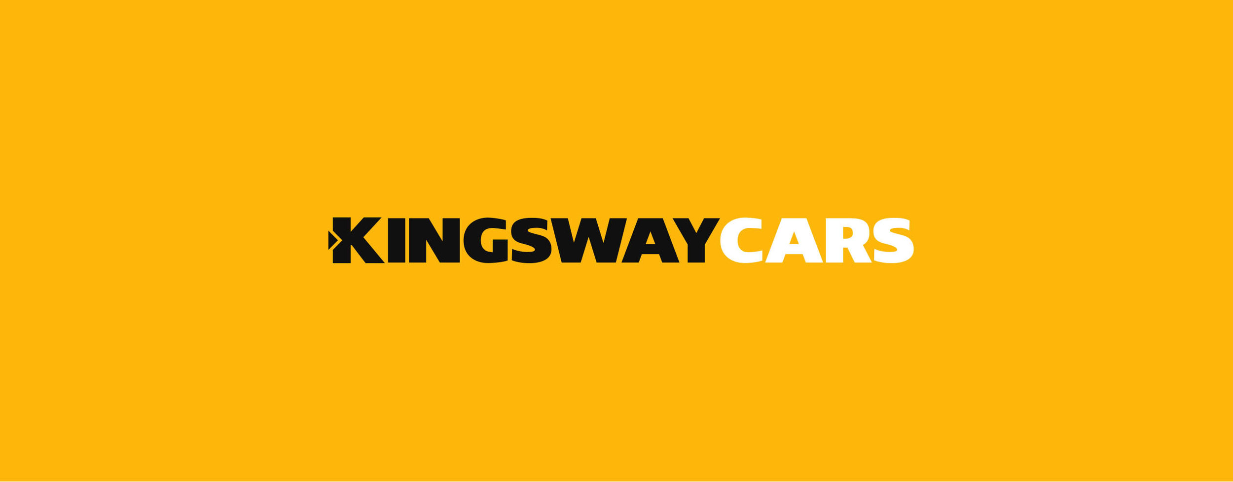 Kingsway Cars Logo on Yellow