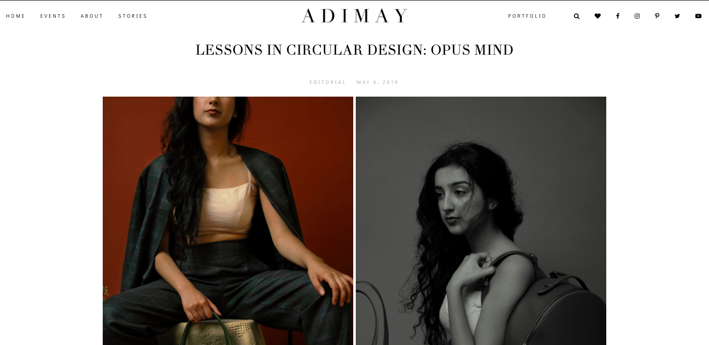 Blogger feature: adimay sustainable fashion blog