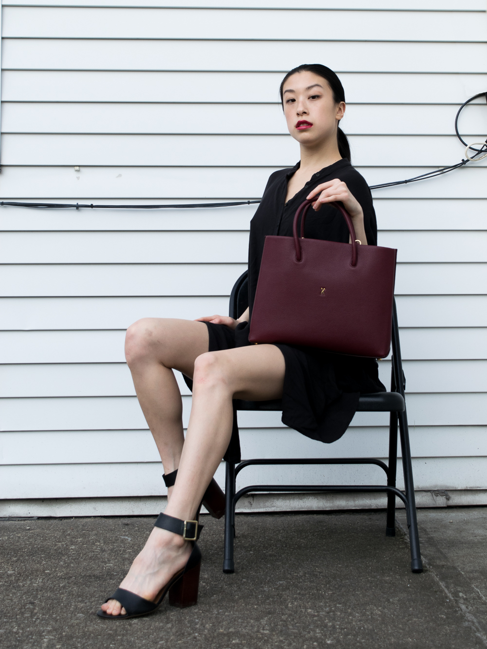Joseph and Stacey Handbag Review Savage Wine east asian style blogger
