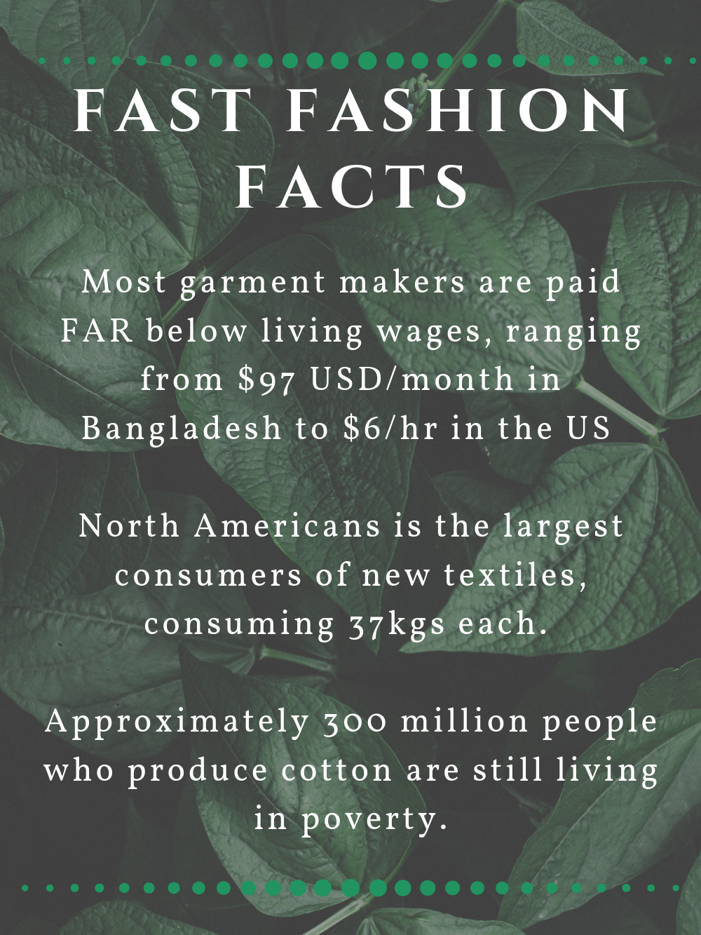 Fast Fashion Facts Infographic 2