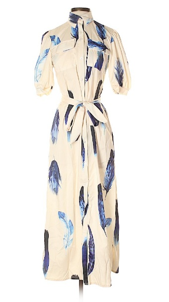 White and blue midi dress for fourth of july