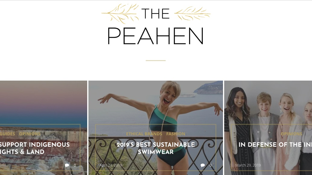 The Peahen Sustainable Style Blog Feature