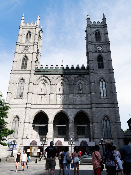 Notre Dame Basilica Montreal Church Exterior Shadows