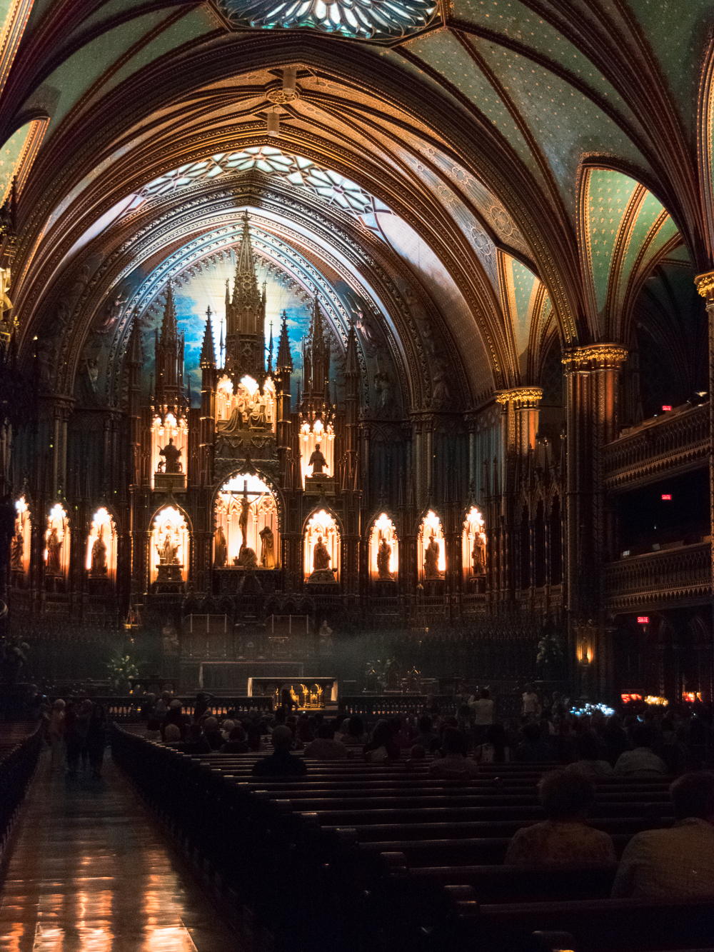 Interior of Notre Dame Basilica in Montreal