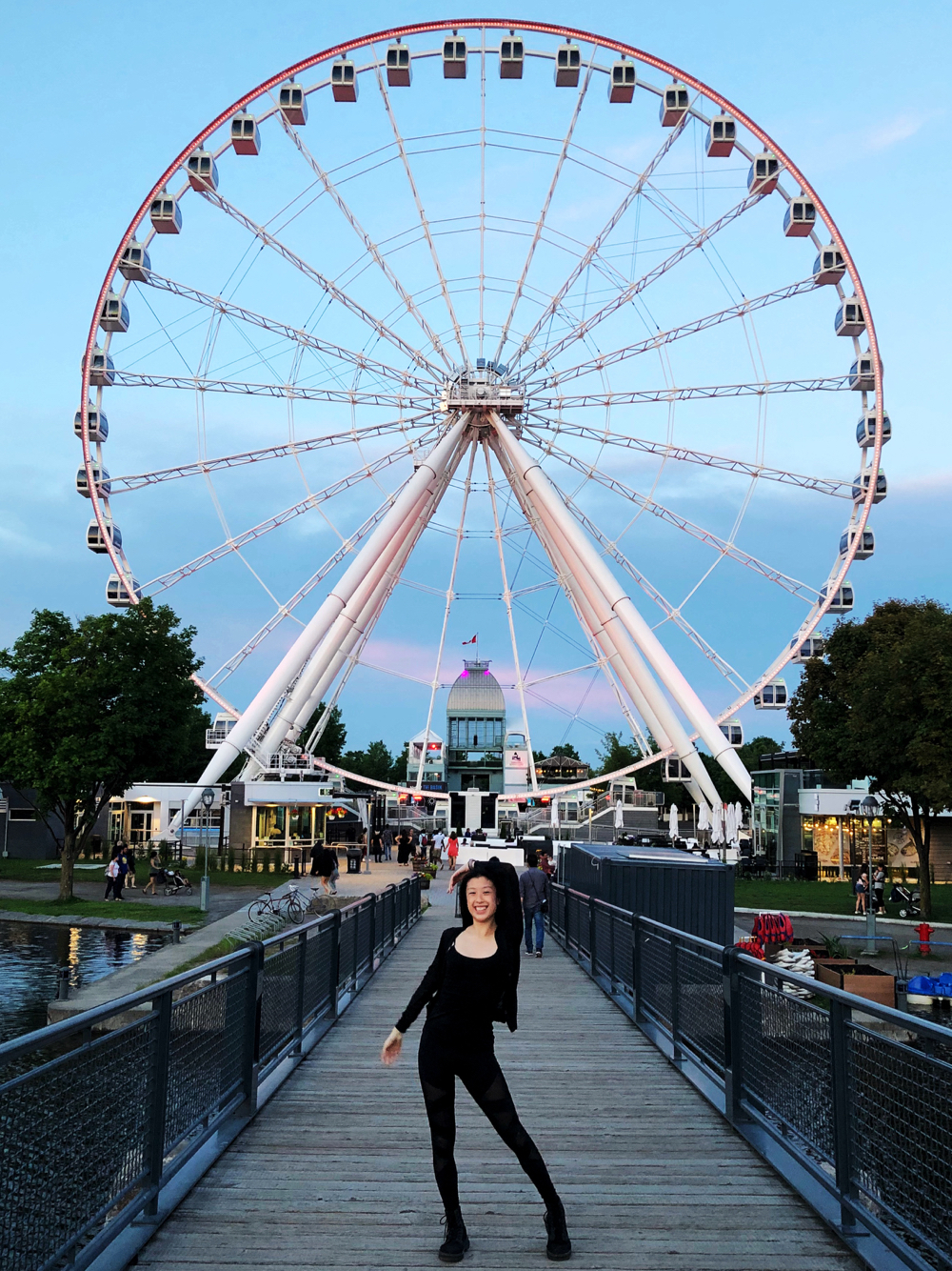 La Grand Roue in Old Port of Montreal