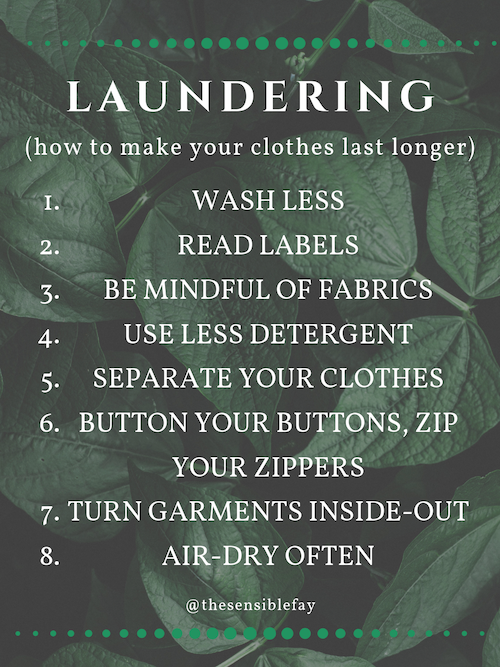 Laundering Tips To make your clothes last longer Graphic