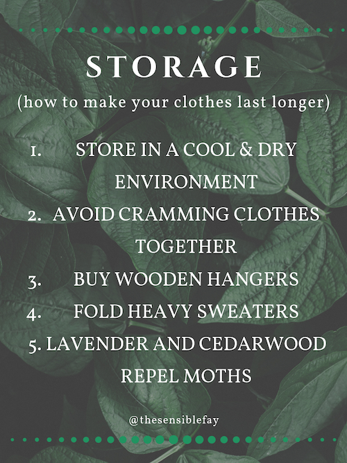 Storage tips to make your clothes last longer graphic