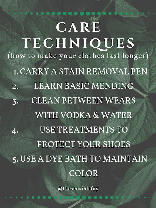 care techniques for making your clothes last longer graphic