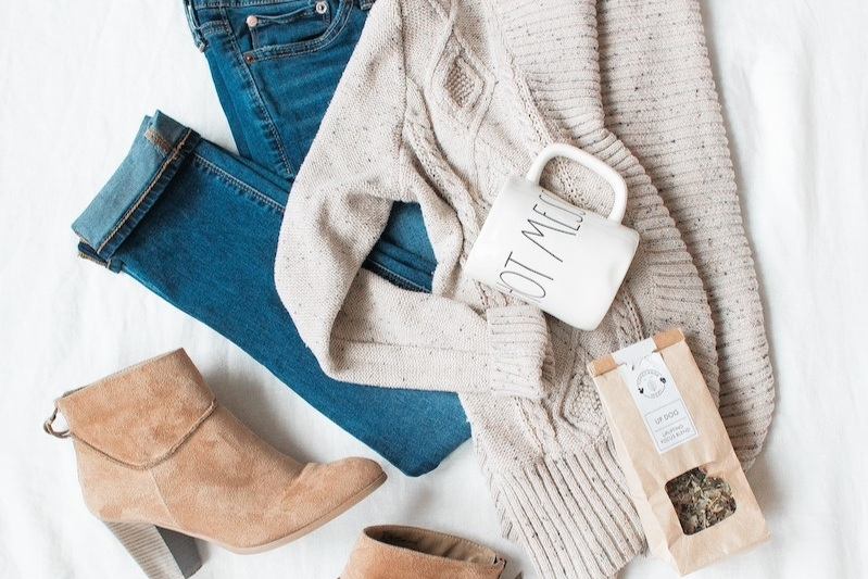 How to Tell If A Clothing Brand is Ethical and Sustainable About Page Clothing Flatlay