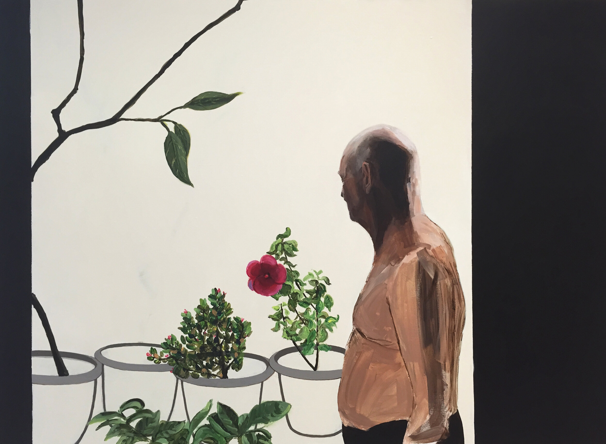 Wang jue, Gilles and him, Acrylic on canvas, 140cm x 100cm, 2014.JPG