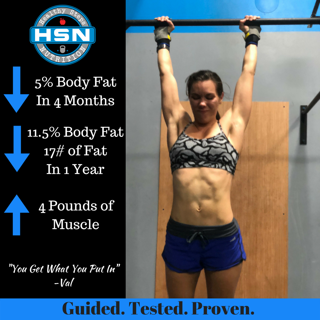 How Val lost 5% body fat in 4 month